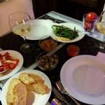 Em Granada ficamos num apartamento com cozinha