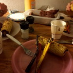 Jantando dentro do parque, no Grand  Sand Dunes Lodge