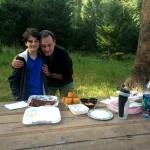 Piquenique no Rock Mountain NP com marmita do Smokin' Dave's